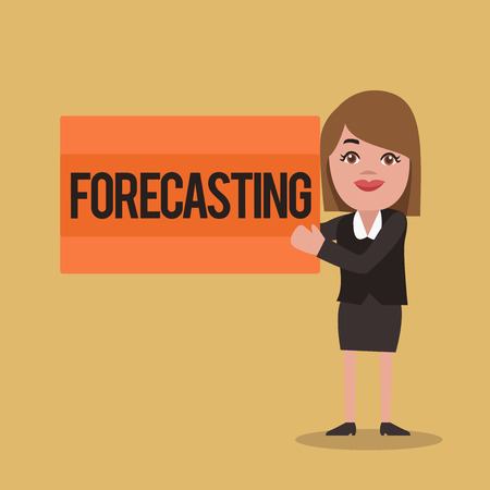 Text sign showing Forecasting. Conceptual photo Predict Estimate a future event or trend based on present data.