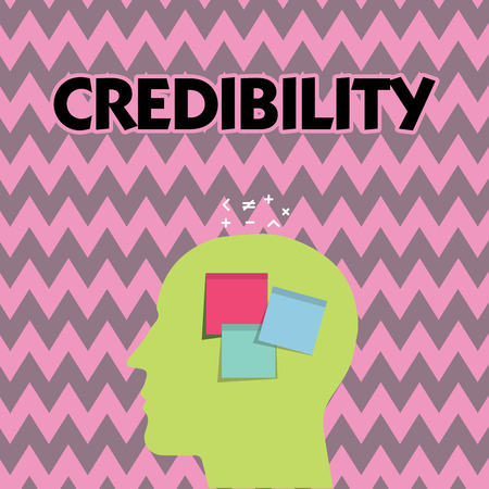 Text sign showing Credibility. Conceptual photo Quality of being convincing trusted credible and believed in. Stok Fotoğraf