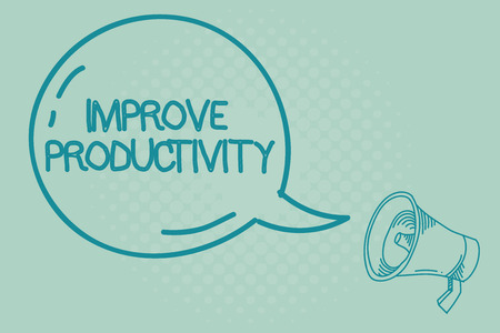 Text sign showing Improve Productivity. Conceptual photo Enhance the Quality of Input Time and Perforanalysisce. Stock Photo