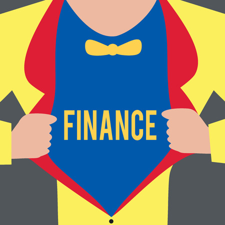 Text sign showing Finance. Imagens