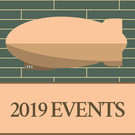 Handwriting text writing 2019 Events.