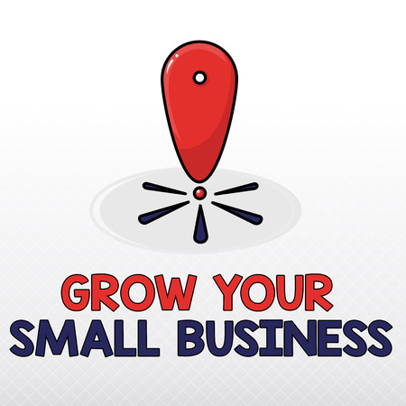 Word writing text Grow Your Small Business. Business concept for company generates positive cash flow Earn. Banco de Imagens