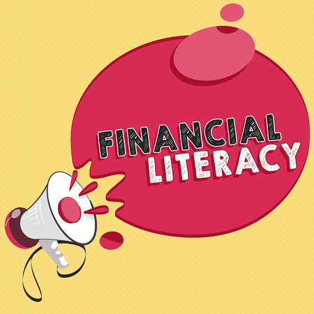 Word writing text Financial Literacy. Business concept for Understand and knowledgeable on how money works. Banco de Imagens