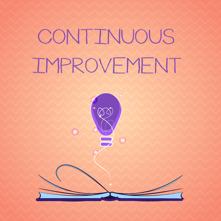 Text sign showing Continuous Improvement. Conceptual photo Ongoing Effort to Advance Never ending changes.
