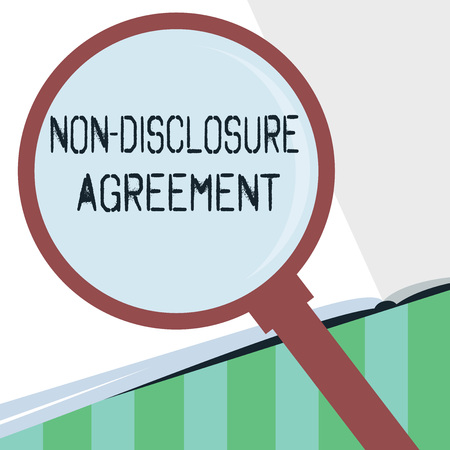 Word writing text Non Disclosure Agreement. Business concept for Legal Contract Confidential Material or Information. Stock Photo