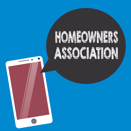 Conceptual hand writing showing Homeowners Association. Business photo text Organization with fee for upkeeps of Gated Community.