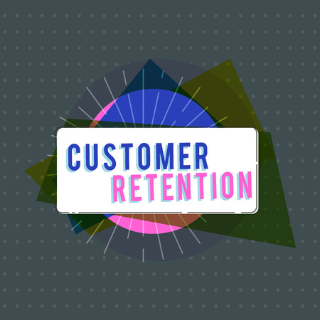 Text sign showing Customer Retention. Conceptual photo Keeping loyal customers Retain many as possible. Stockfoto