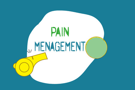 Word writing text Pain Management. Business concept for a branch of medicine employing an interdisciplinary approach.