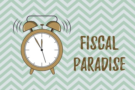 Handwriting text writing Fiscal Paradise. Concept meaning The waste of public money is a great concern topic.