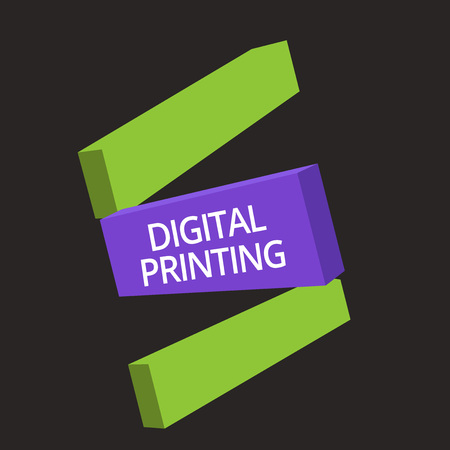 Word writing text Digital Printing. Business concept for digital based images directly to variety of media.
