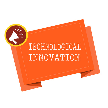 Word writing text Technological Innovation. Business concept for New Invention from technical Knowledge of Product.