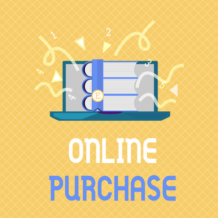 Word writing text Online Purchase. Business concept for Purchases electronic commerce goods from over the Internet.