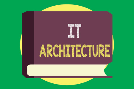 Handwriting text writing It Architecture. Concept meaning Architecture is applied to the process of overall structure.