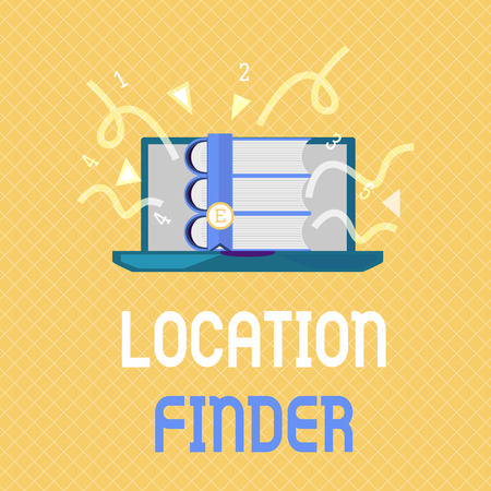 Word writing text Location Finder. Business concept for A service featured to find the address of a selected place.