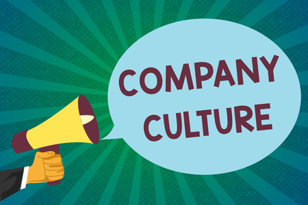 Word writing text Company Culture. Business concept for The environment and elements in which employees work.