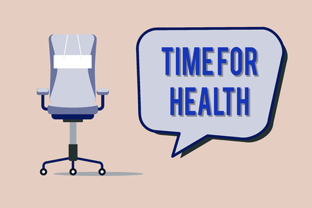 Text sign showing Time For Health. Conceptual photo encouraging someone to start eating healthy food do sport.