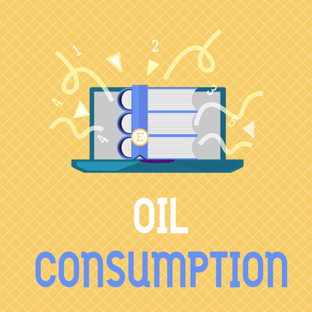 Word writing text Oil Consumption. Business concept for This entry is the total oil consumed in barrels per day. Фото со стока