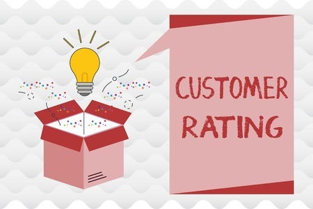 Handwriting text Customer Rating. Concept meaning Each point of the customers enhances the experience.