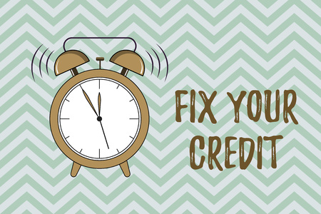 Handwriting text writing Fix Your Credit. Concept meaning Keep balances low on credit cards and other credit.