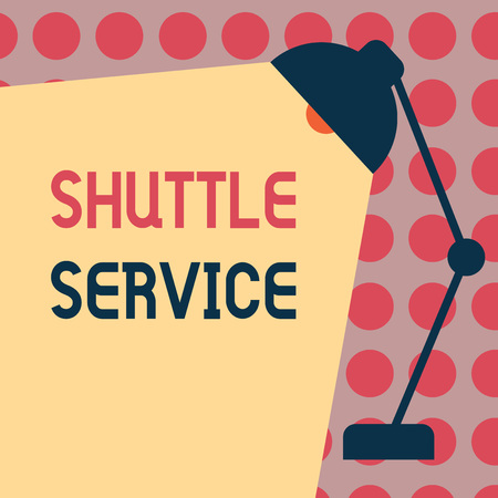 Conceptual hand writing showing Shuttle Service. Business photo text vehicles like buses travel frequently between two places.