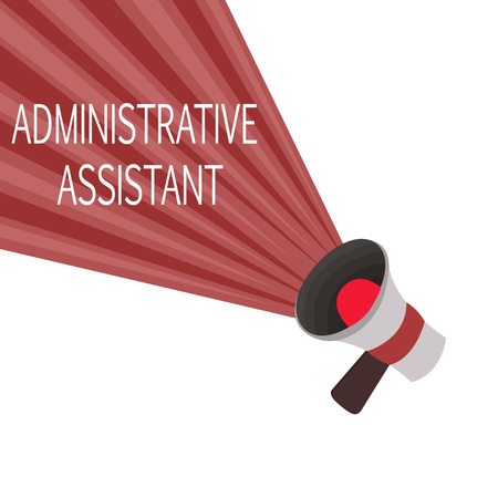 Word writing text Administrative Assistant. Business concept for Administration Support Specialist Clerical Tasks.