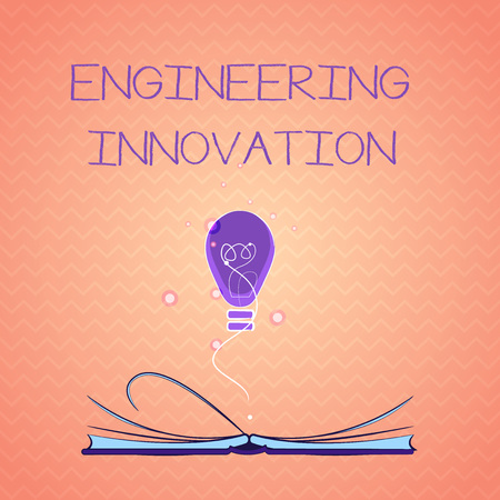 Text sign showing Engineering Innovation. Conceptual photo Process expressed in Logic and Mathematical Form.