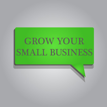 Writing note showing Grow Your Small Business. Business photo showcasing company generates positive cash flow Earn. Banco de Imagens - 111509976