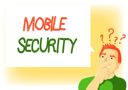 Writing note showing Mobile Security. Business photo showcasing Protection of mobile phone from threats and vulnerabilities.