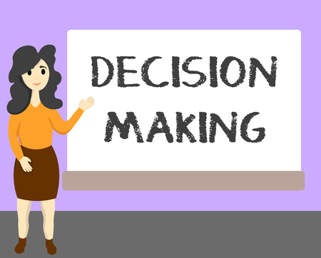 Word writing text Decision Making. Business concept for The act of deciding between two or more possibilities.