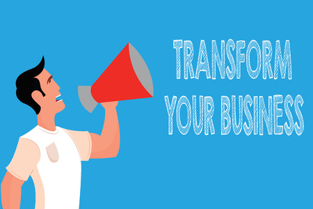 Word writing text Transform Your Business. Business concept for Modify energy on innovation and sustainable growth.