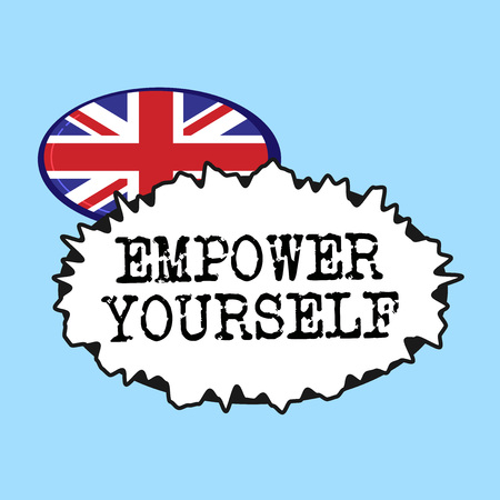 Word writing text Empower Yourself. Business concept for taking control of life setting goals positive choices. Banco de Imagens