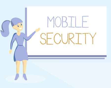 Word writing text Mobile Security. Business concept for Protection of mobile phone from threats and vulnerabilities.