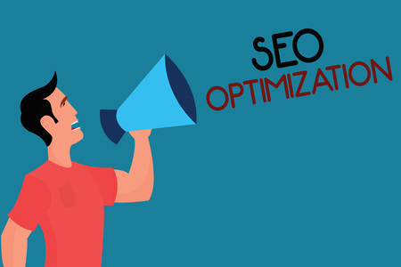 Writing note showing Seo Optimization. Business photo showcasing process of affecting online visibility of website or page.