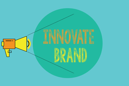 Conceptual hand writing showing Innovate Brand. Business photo showcasing significant to innovate products, services and more.