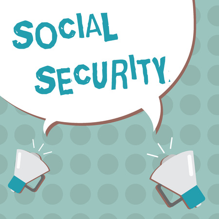 Conceptual hand writing showing Social Security. Business photo text assistance from state people with inadequate or no income.