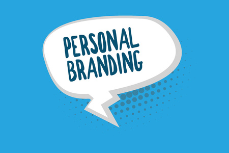 Word writing text Personal Branding. Business concept for Marketing themselves and their careers as brands.