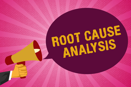 Writing note showing Root Cause Analysis. Business photo showcasing Method of Problem Solving Identify Fault or Problem. Standard-Bild - 111550789