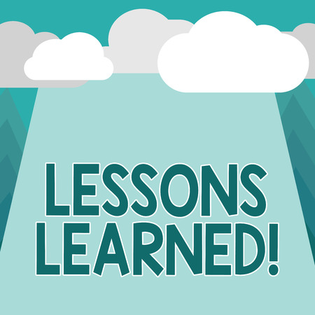 Conceptual hand writing showing Lessons Learned. Business photo showcasing information reflects positive and negative experiences.