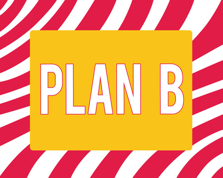 Conceptual hand writing showing Plan B. Business photo showcasing ones Backup plan or strategy detailed proposal for doing something.