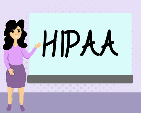 Text sign showing Hipaa. Conceptual photo Acronym stands for Health Insurance Portability Accountability.