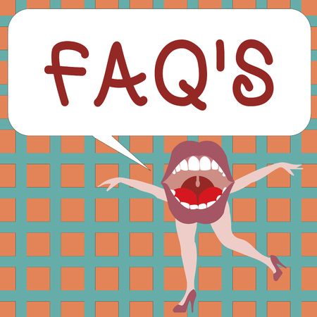 Text sign showing Faq s is. Conceptual photo list of questions and answers relating to a particular subject.