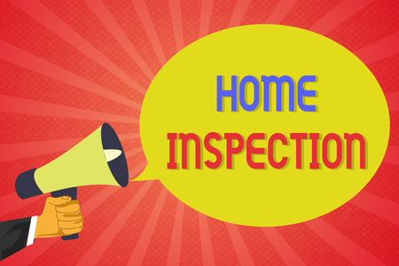 Conceptual hand writing showing Home Inspection. Business photo text Examination of the condition of a home related property. Stockfoto