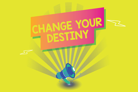 Word writing text Change Your Destiny. Business concept for Rewriting Aiming Improving Start a Different Future.