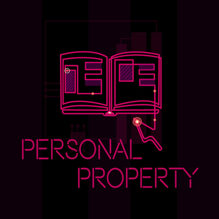 Word writing text Personal Property. Business concept for Things that you own and can take it with you Movable.