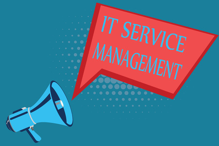 Word writing text It Service Management. Business concept for Activity Directed by Policies Lifecycle of Technology. Banque d'images - 111595799