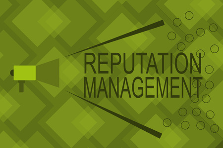 Writing note showing Reputation Management. Business photo showcasing Influence and Control the Image Brand Restoration. Фото со стока
