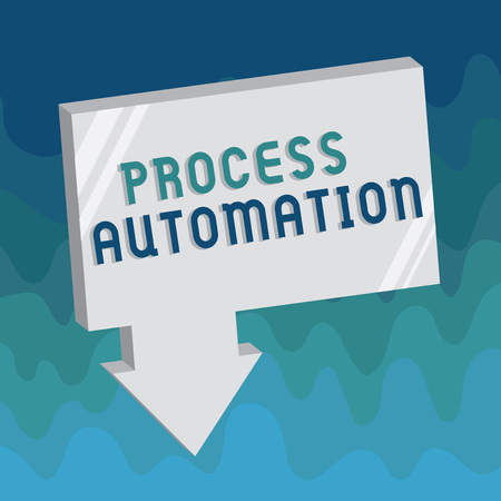 Handwriting text Process Automation. Concept meaning Transformation Streamlined Robotic To avoid Redundancy.