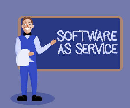 Word writing text Software As Service. Business concept for On Demand licensed on Subscription and centrally hosted.