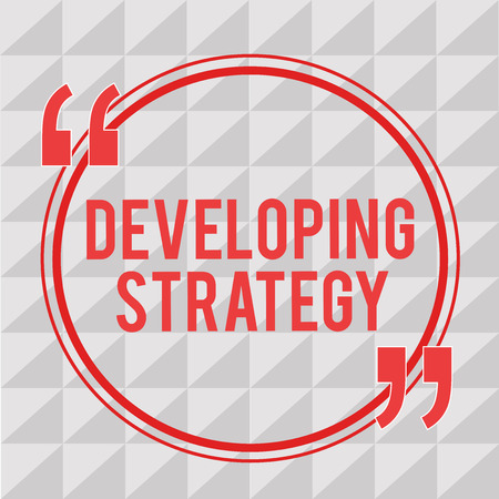 Writing note showing Developing Strategy. Business photo showcasing Organizations Process Changes to reach Objectives.