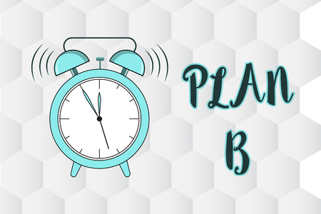 Text sign showing Plan B. Conceptual photo ones Backup plan or strategy detailed proposal for doing something. Stock Photo